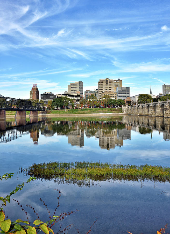 Harrisburg Photograph - Harrisburg From The Susquehanna by Brendan Reals