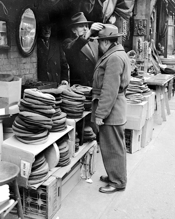 Harry Kregman, Owner Of Hats & Caps, At Photograph by New York Daily News Archive