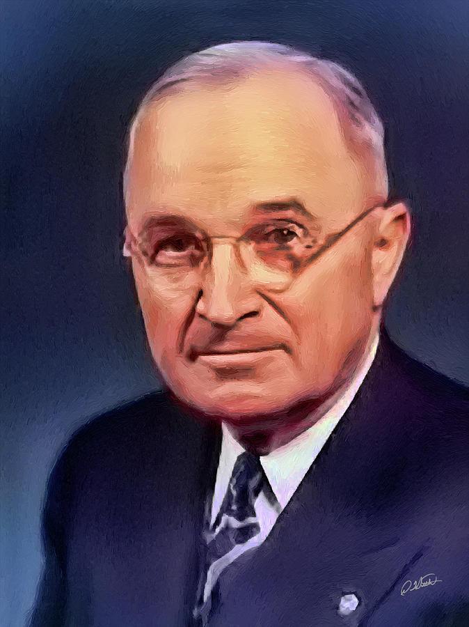 Harry S Truman - DWP182407001 by Dean Wittle