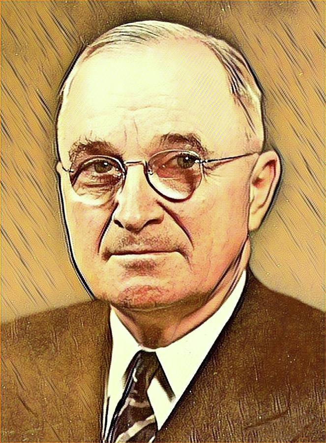 Harry S Truman Mixed Media