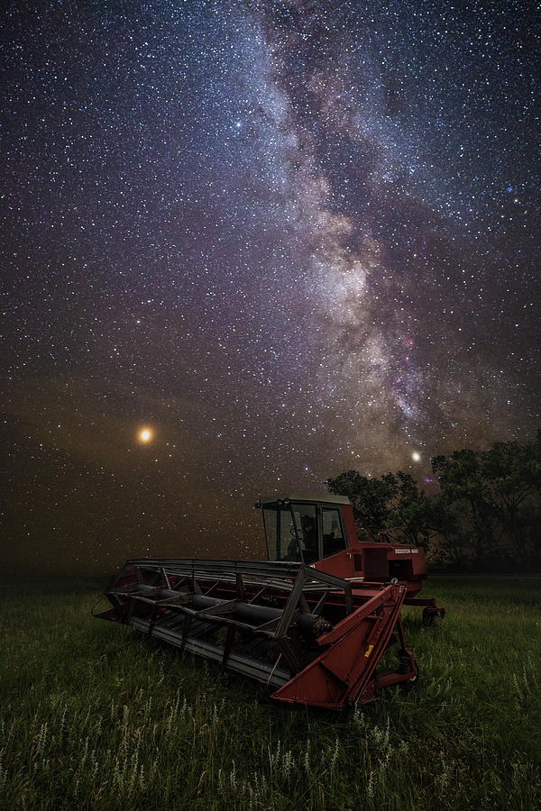 Milky Way Photograph - Harvesting the Rift  by Aaron J Groen