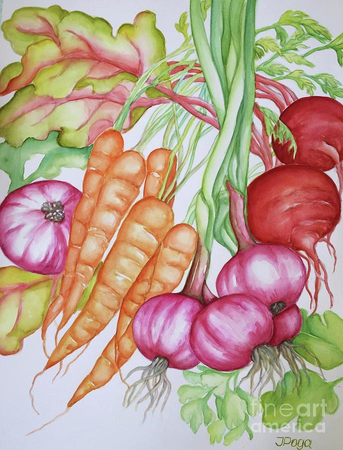 Harvesting vegetables by Inese Poga