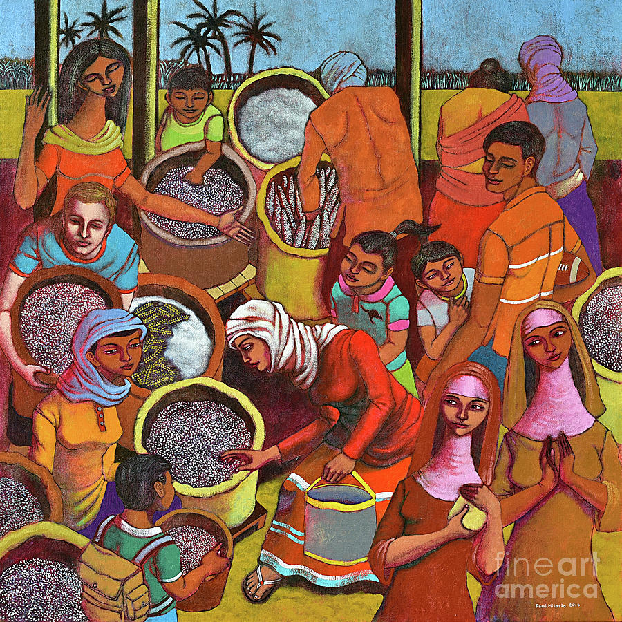 Rice Painting - Harvestplus Asia by Paul Hilario