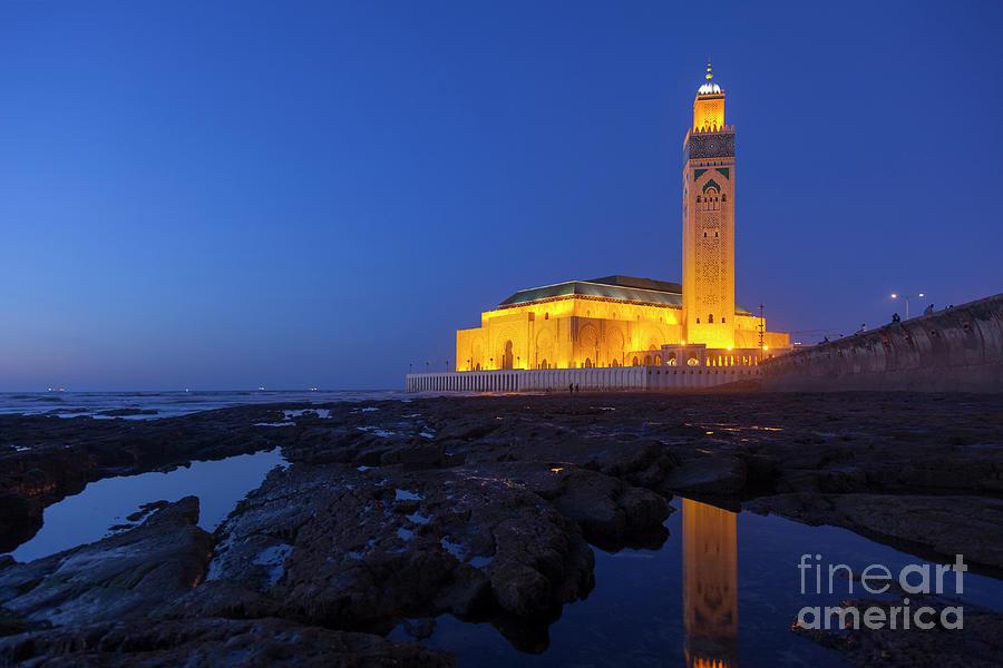Hassan II Mosque In Casablanca, Morocco Photograph by Ugurhan