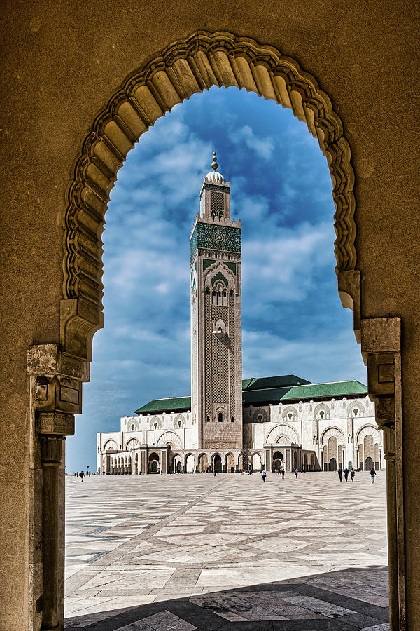 Hassan Mosque Through the Archway - Morocco by Stuart Litoff