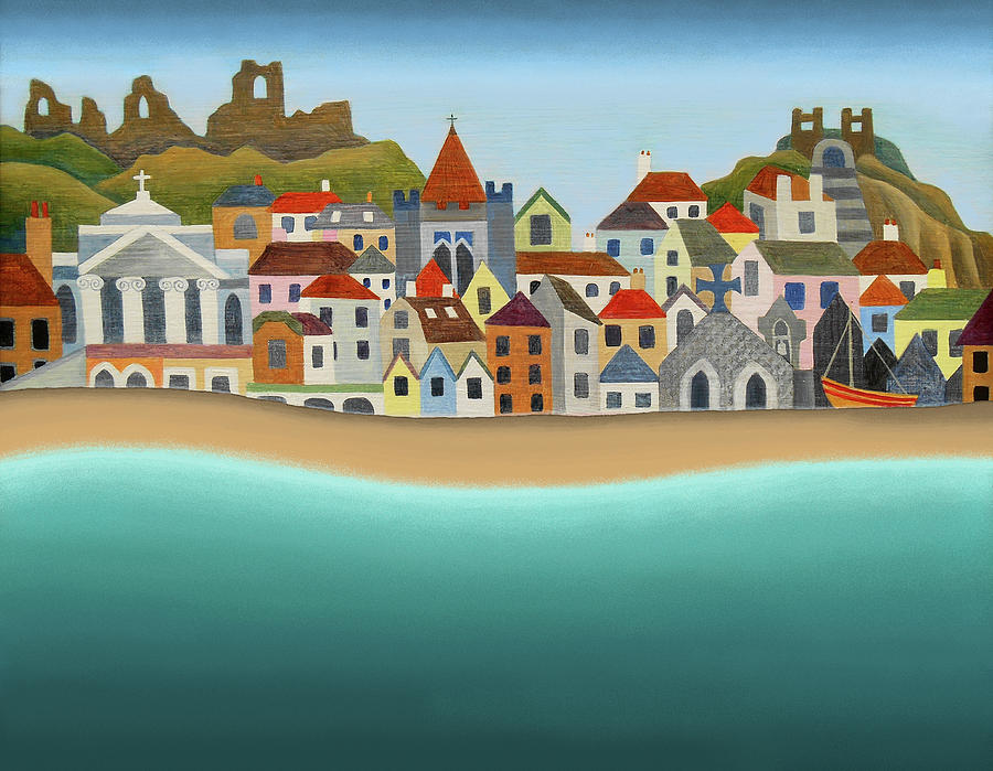 Seaside Painting - Hastings From The Sea by Jennifer Baird