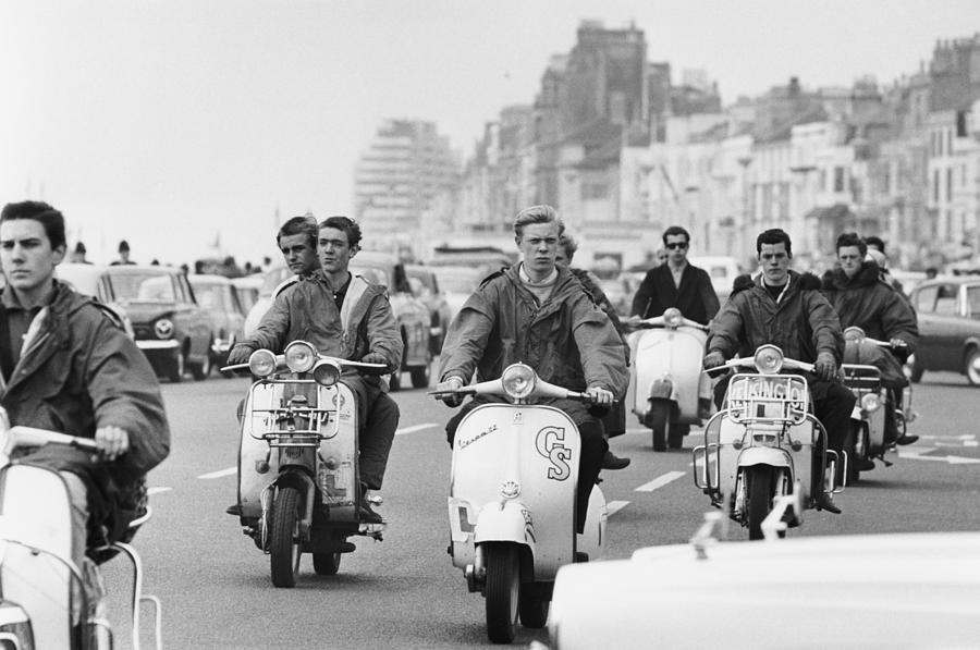 Hastings Mods Photograph by Terry Fincher
