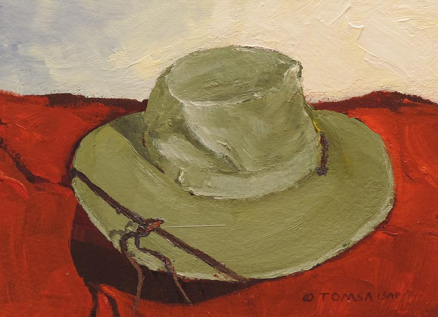 Hat on Red Blanket by Bill Tomsa