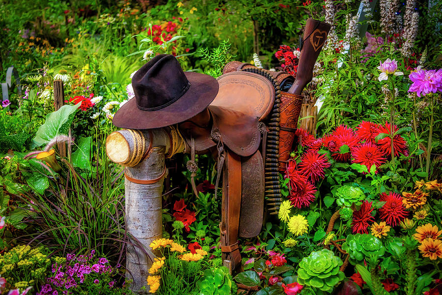Hat Saddle And Gun by Garry Gay