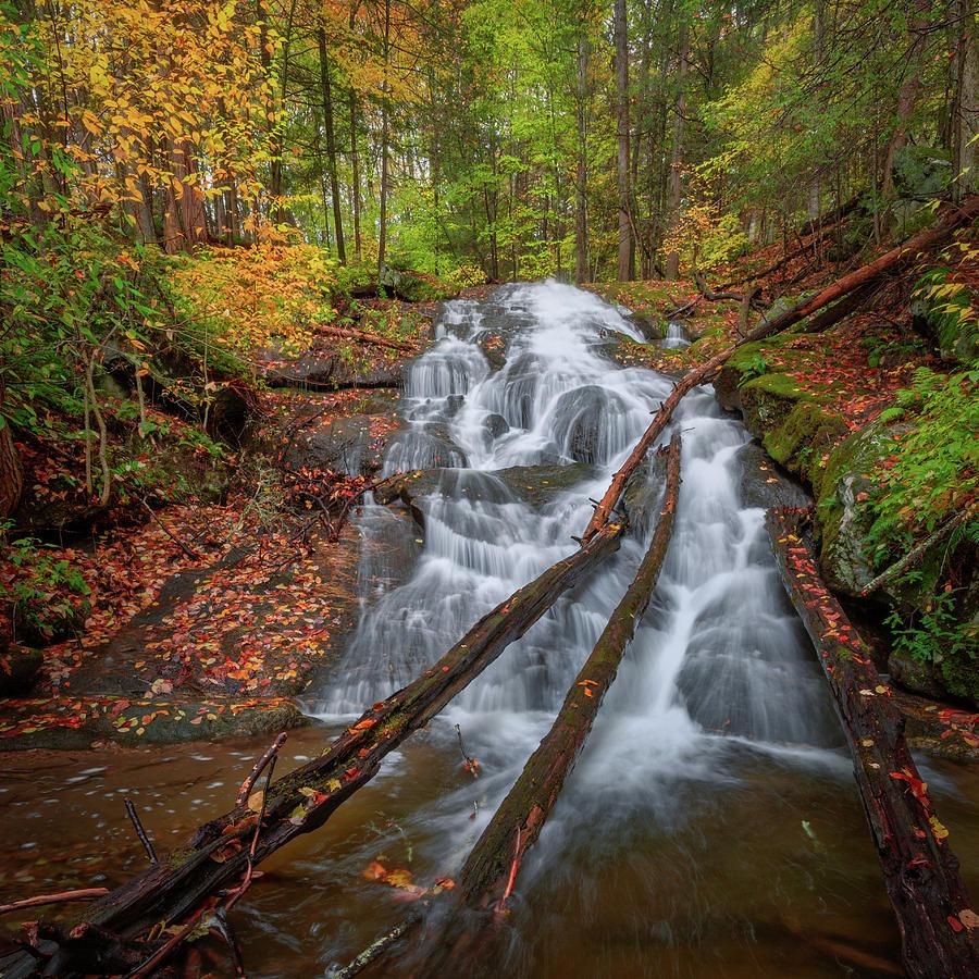 Hatch Brook Falls Autumn by Bill Wakeley