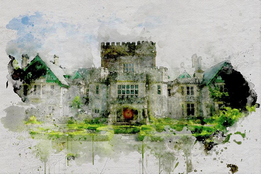 Hatley Castle in Spring by Marilyn Wilson