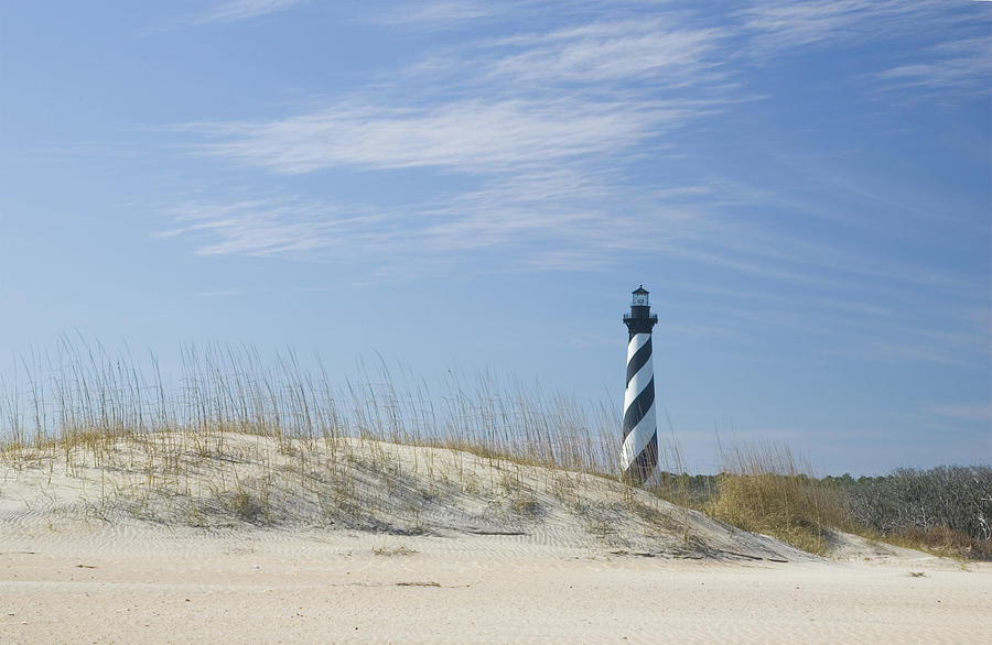 Hatteras Lighthouse And The Dunes Photograph by Myhrcat