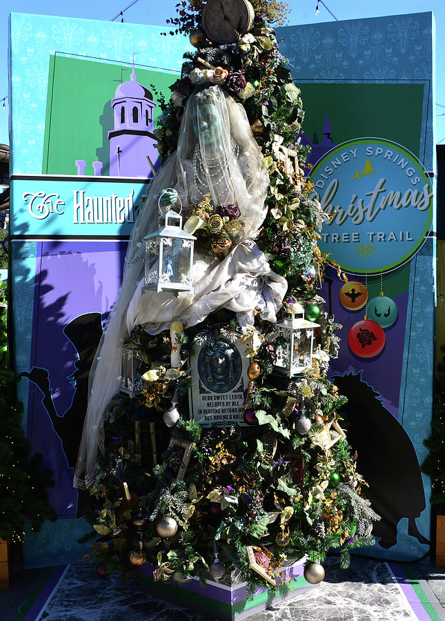 Haunted Mansion Christmas Tree Photograph By David Lee Thompson