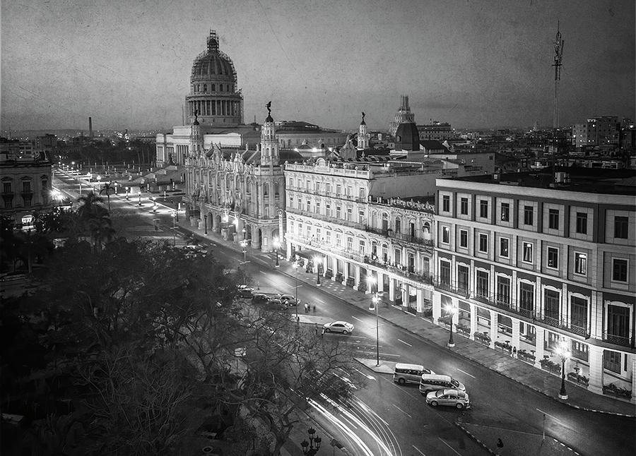 Havana Cuba Awakens BW by Joan Carroll