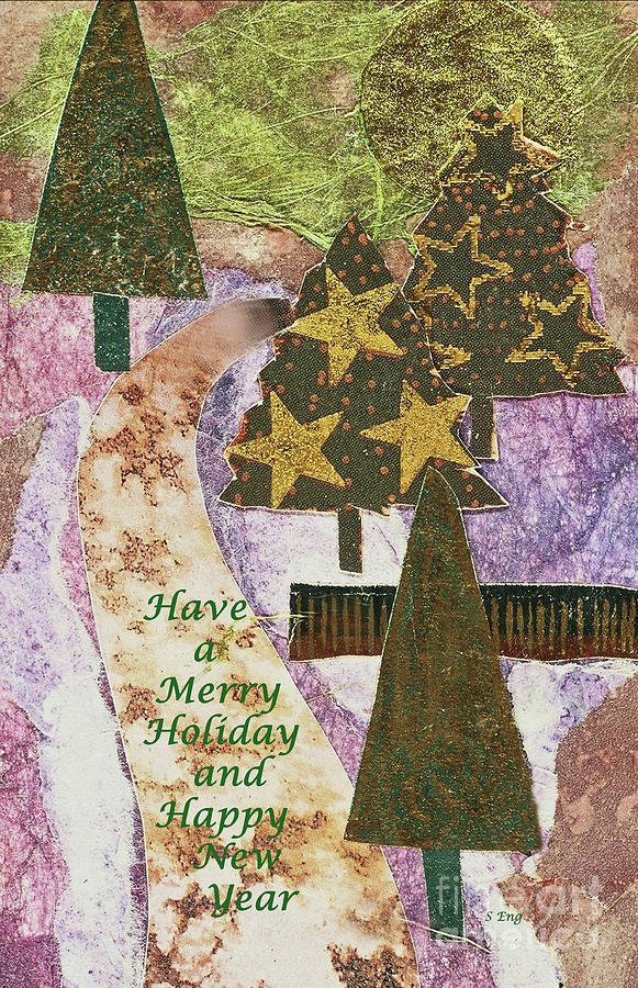 Christmas Mixed Media - Have a Merry Holiday by Sharon Williams Eng