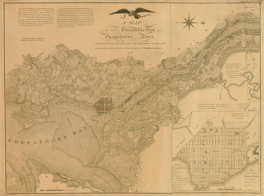 Havre De Grace, Susquehanna River And Digital Art by Historic Map Works Llc