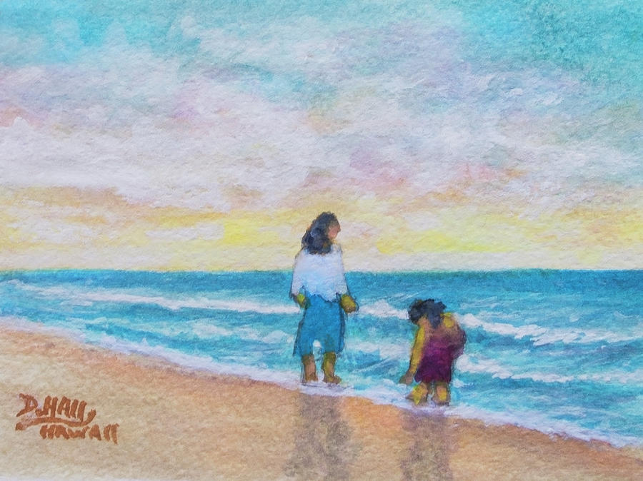 Hawaii Beach #492 Painting by Donald k Hall