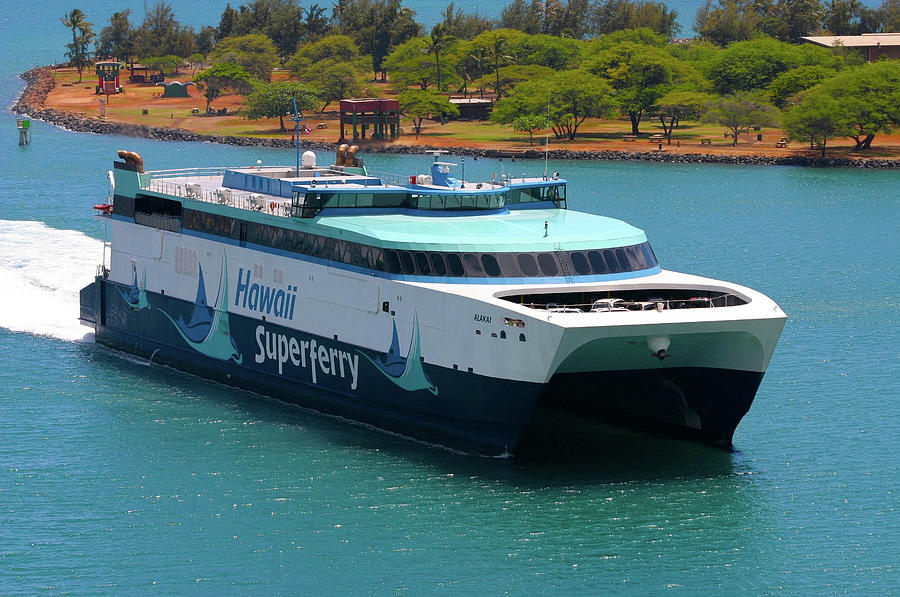 Hawaii Photograph - Hawaii Superferry 1 by Melvin Ah Ching