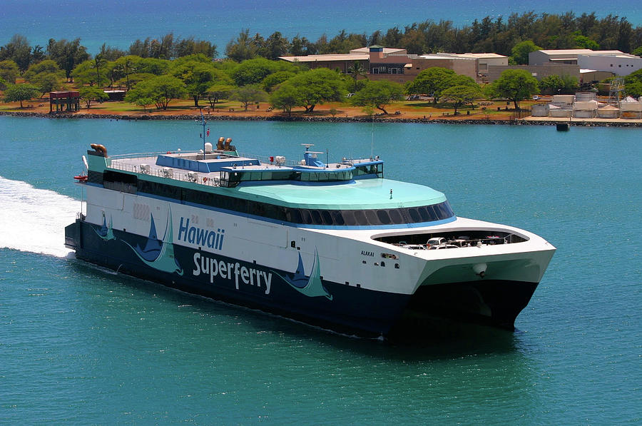 Hawaii Photograph - Hawaii Superferry 2 by Melvin Ah Ching