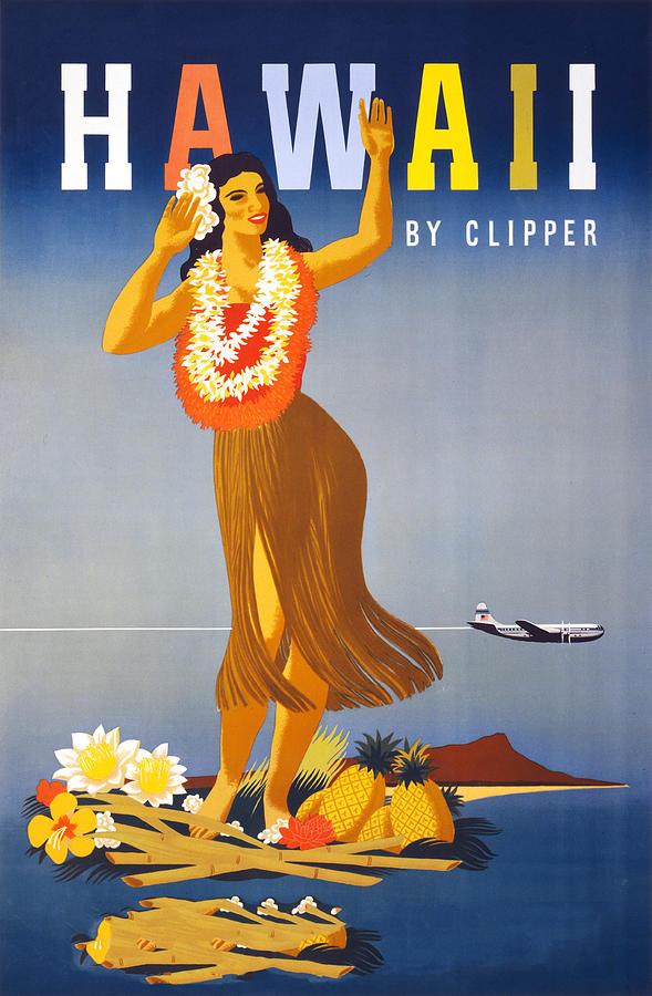 People Digital Art - Hawaii Travel Poster by Graphicaartis