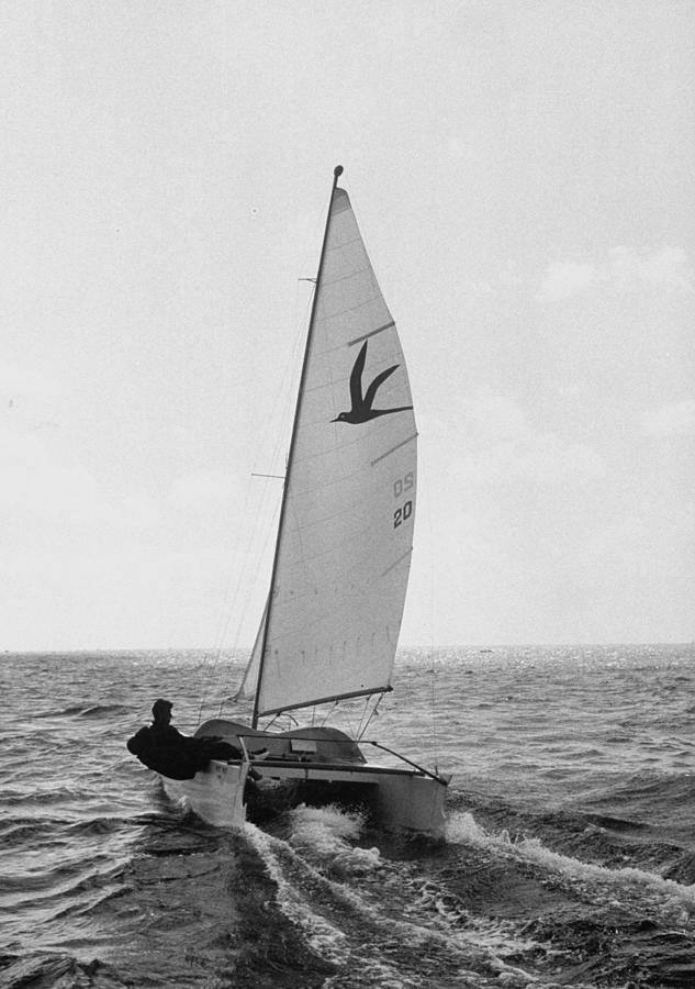 Hawaiian Catamaran At The One Of A Kind Photograph by Eliot Elisofon