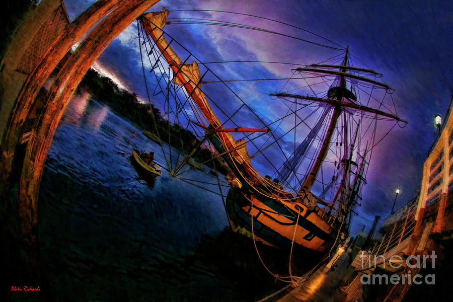 Hawaiian Chieftain And little Boat by Blake Richards