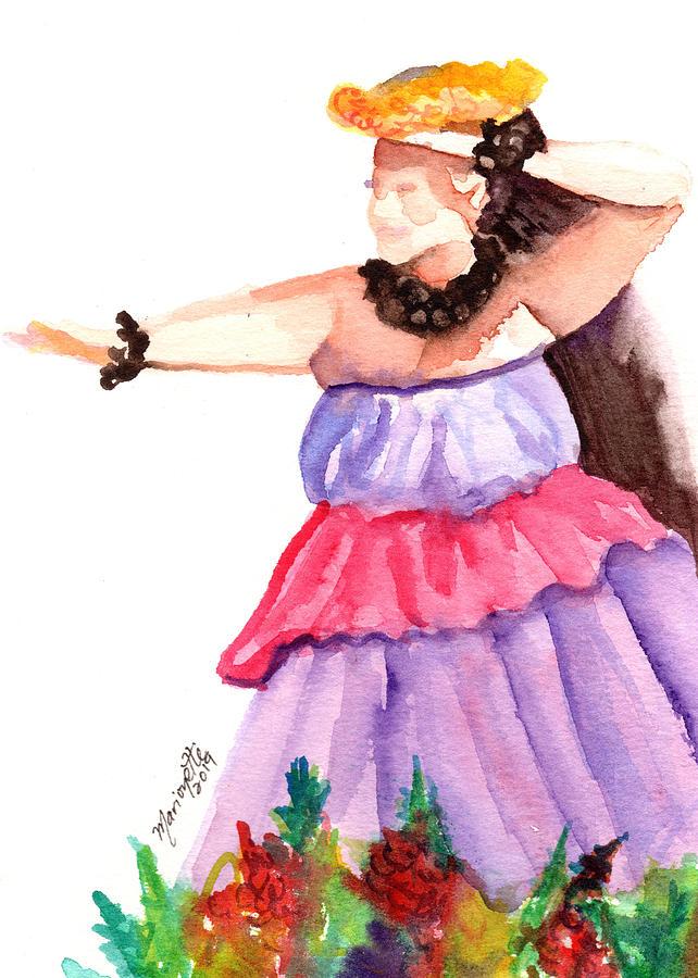 Hawaiian Hula Dancer 3 by Marionette Taboniar