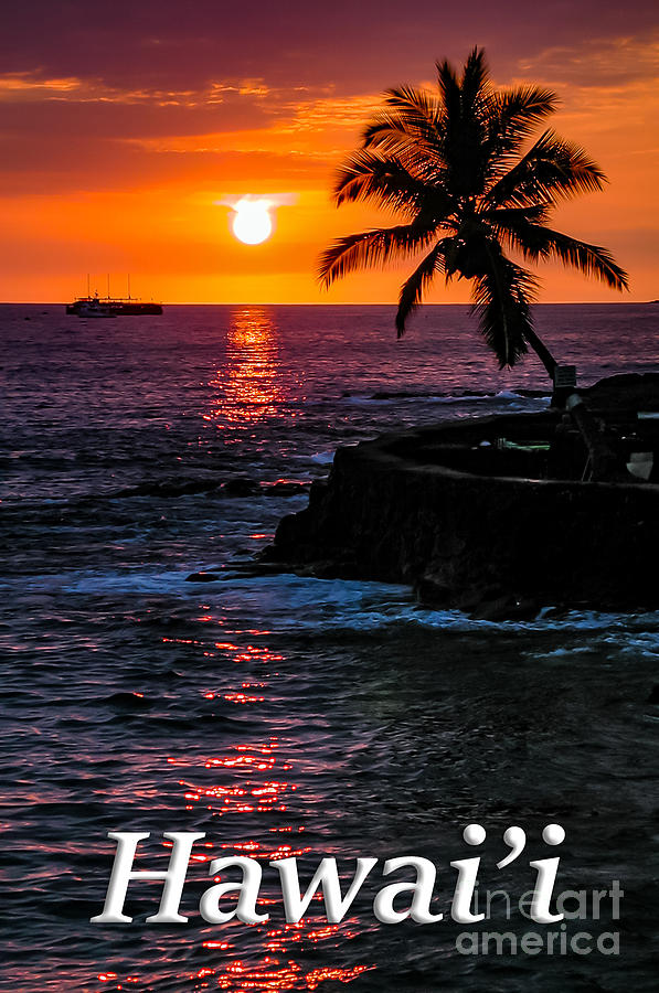Hawaiian Sunset Photograph - Hawaiian Sunset by G Matthew Laughton