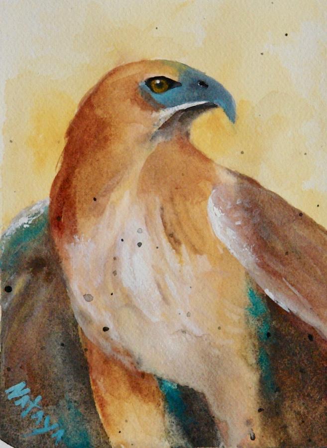 Hawk Painting -  Hawk Medicine by Nataya Crow