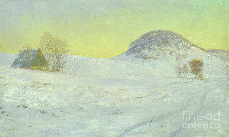 Outside Painting - Hawks Mountain In The Snow by Jean Paul Kayser