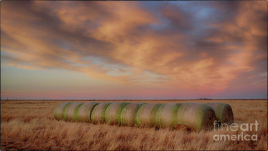 Hay Bales on the High Plains by Natural Abstract Photography