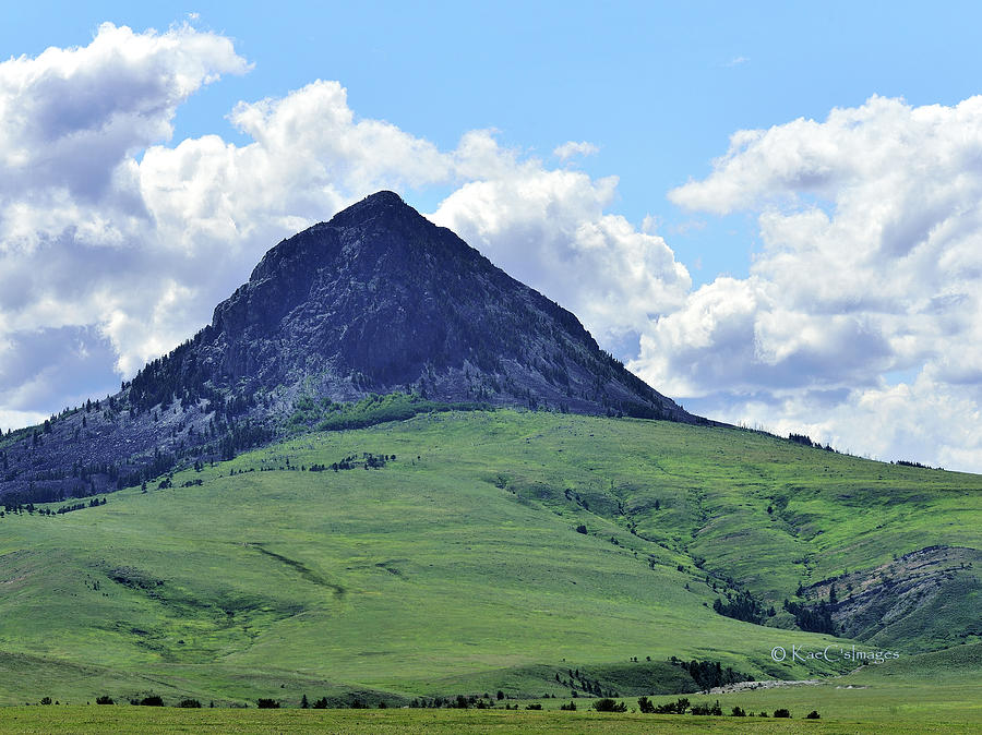 Hay Stack Butte Geological Feature 2 by Kae Cheatham