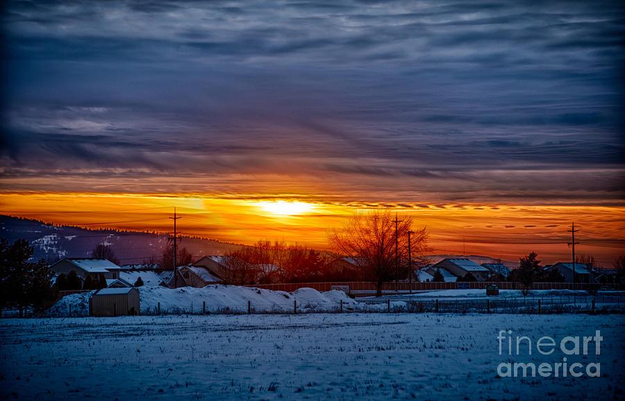 Idaho Photograph - Hayden Sunset by Matthew Nelson