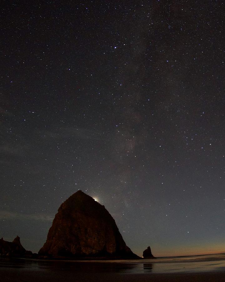 Haystack Night Under the Stars by Todd Kreuter