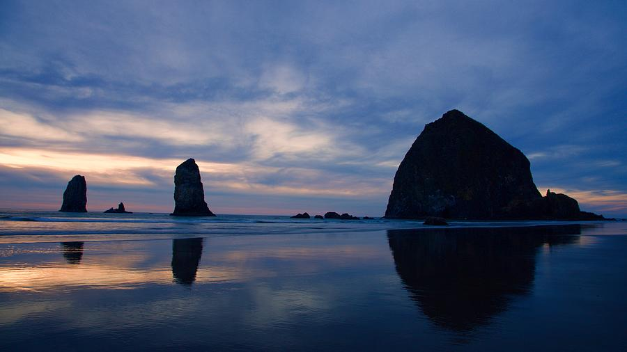 Haystack Rock at Dusk by Todd Kreuter