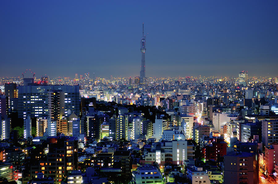 Hazy Skyline With Tokyo Sky Tree Photograph by Hidehiko Sakashita