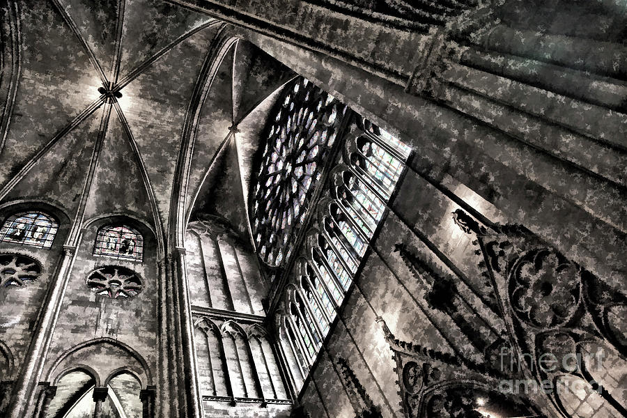 HD Ceiling View Notre Dame Digital  by Chuck Kuhn