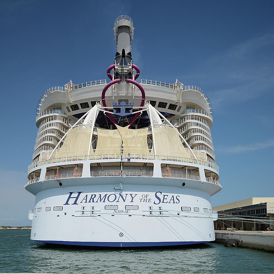 The Harmony of the Seas at Port Canaveral-Square by Bradford Martin