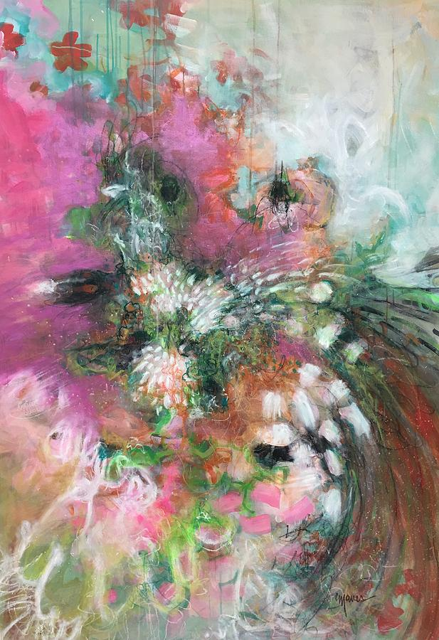 Flower Painting - He Said Yes by Laurie Maves ART