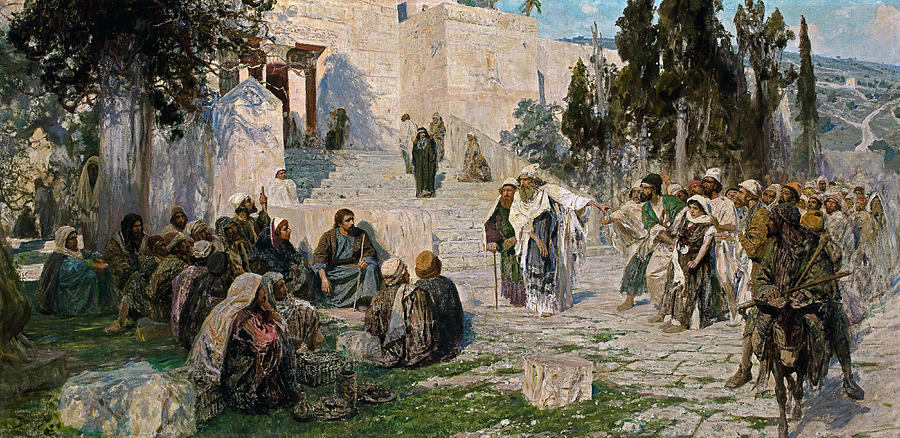 Vasily Polenov Painting - He That Is Without Sin, 1908 by Vasily Polenov