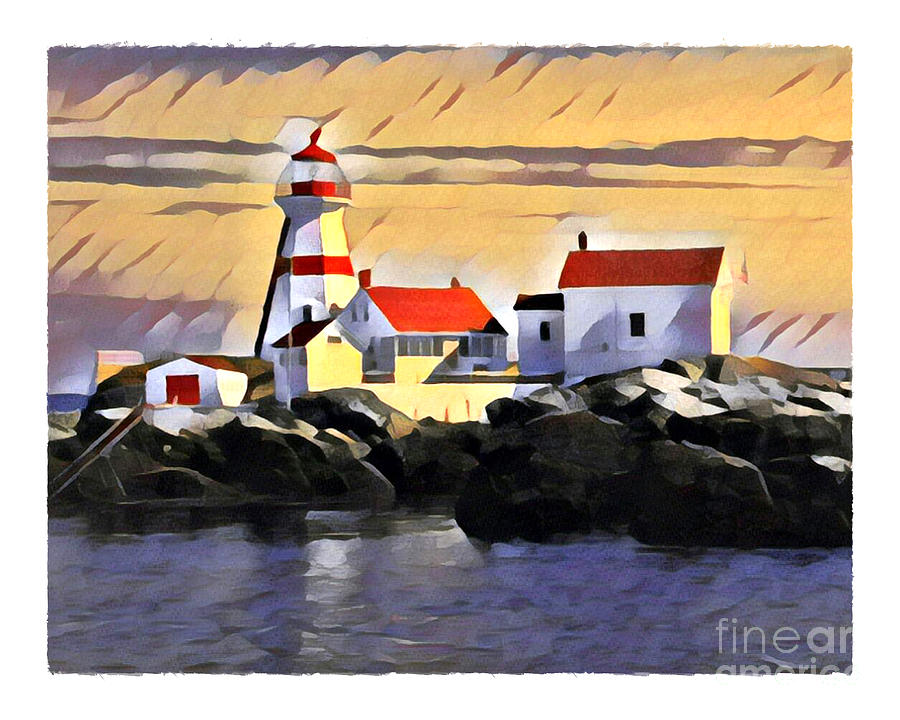 Head Harbour Light, Campobello, NB by Art MacKay