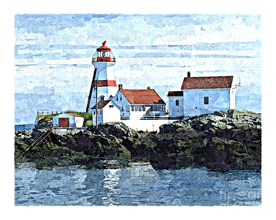 Head Harbour Lighthouse, Campobello, NB by Art MacKay