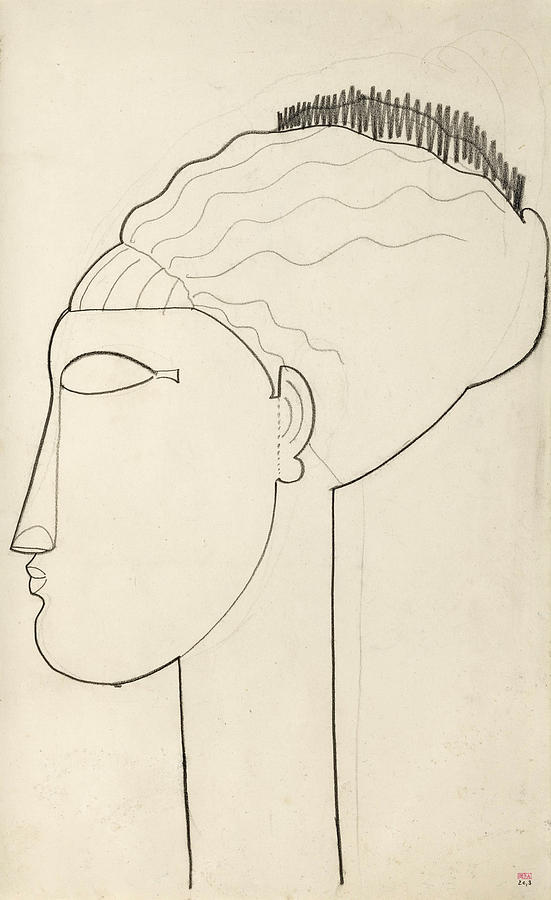 Head In Left Profile by Amedeo Modigliani