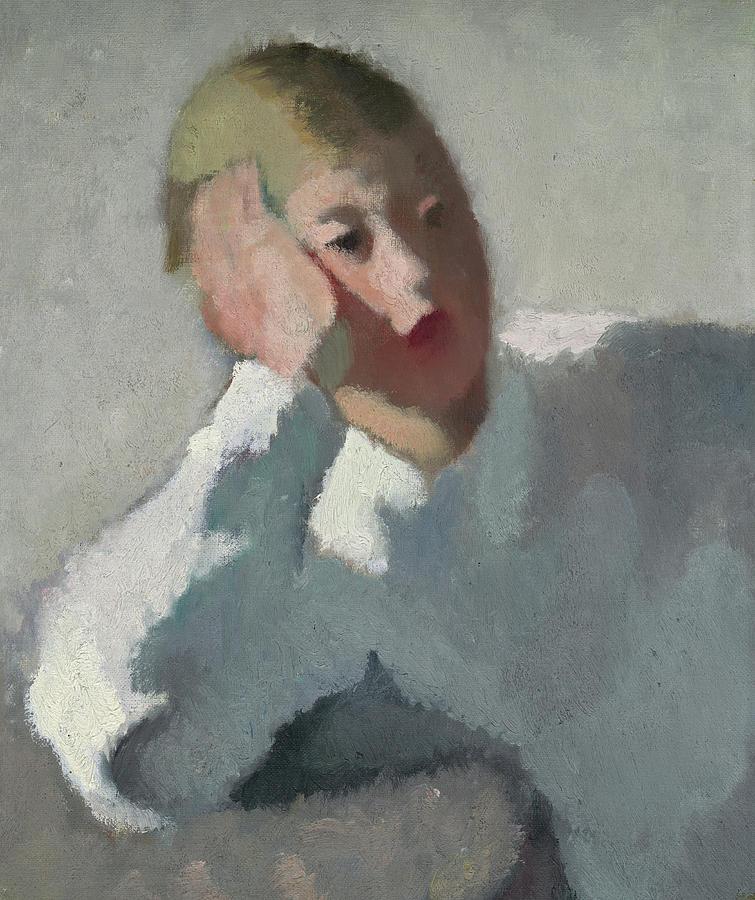99c34940b Head Of A Boy, 1930 Painting by Gigi Cessa