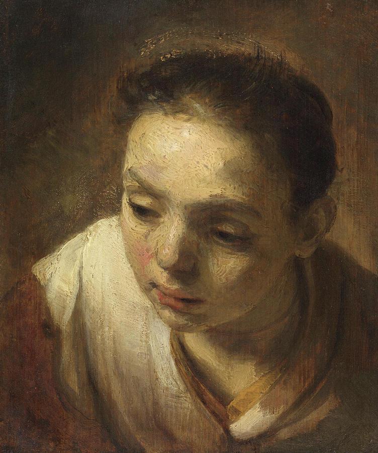 Rembrandtvan Rijn: Rembrandts Moeder Met Haar Hand Op De