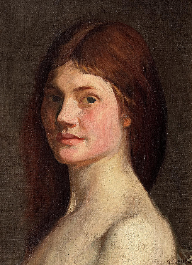 Sir George Clausen Painting - Head Of A Young Woman, Dolly Henry by Sir George Clausen