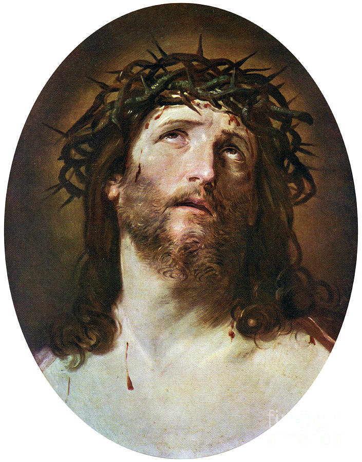 Head Of Christ Crowned With Thorns Drawing by Print Collector