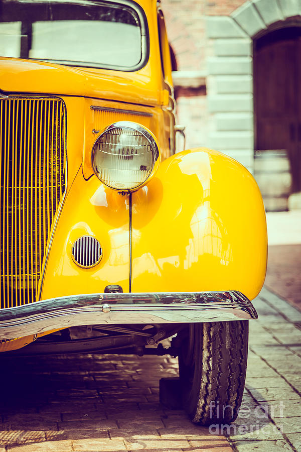 Auto Photograph - Headlight Lamp  Vintage Car - Vintage by Food Travel Stockforlife