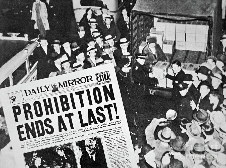 Prohibition Photograph - Headline Declaring The End Of Prohibition, 6th December, 1933 by American School