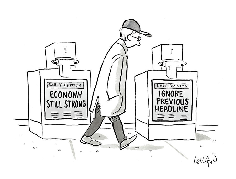 Headlines Drawing by Robert Leighton